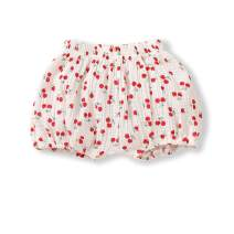 YOUNGER STAR Toddler Baby Bloomers Cotton Linen Cartoon Pattern Print Daily Wear Shorts Loose Diaper-Cover Pants
