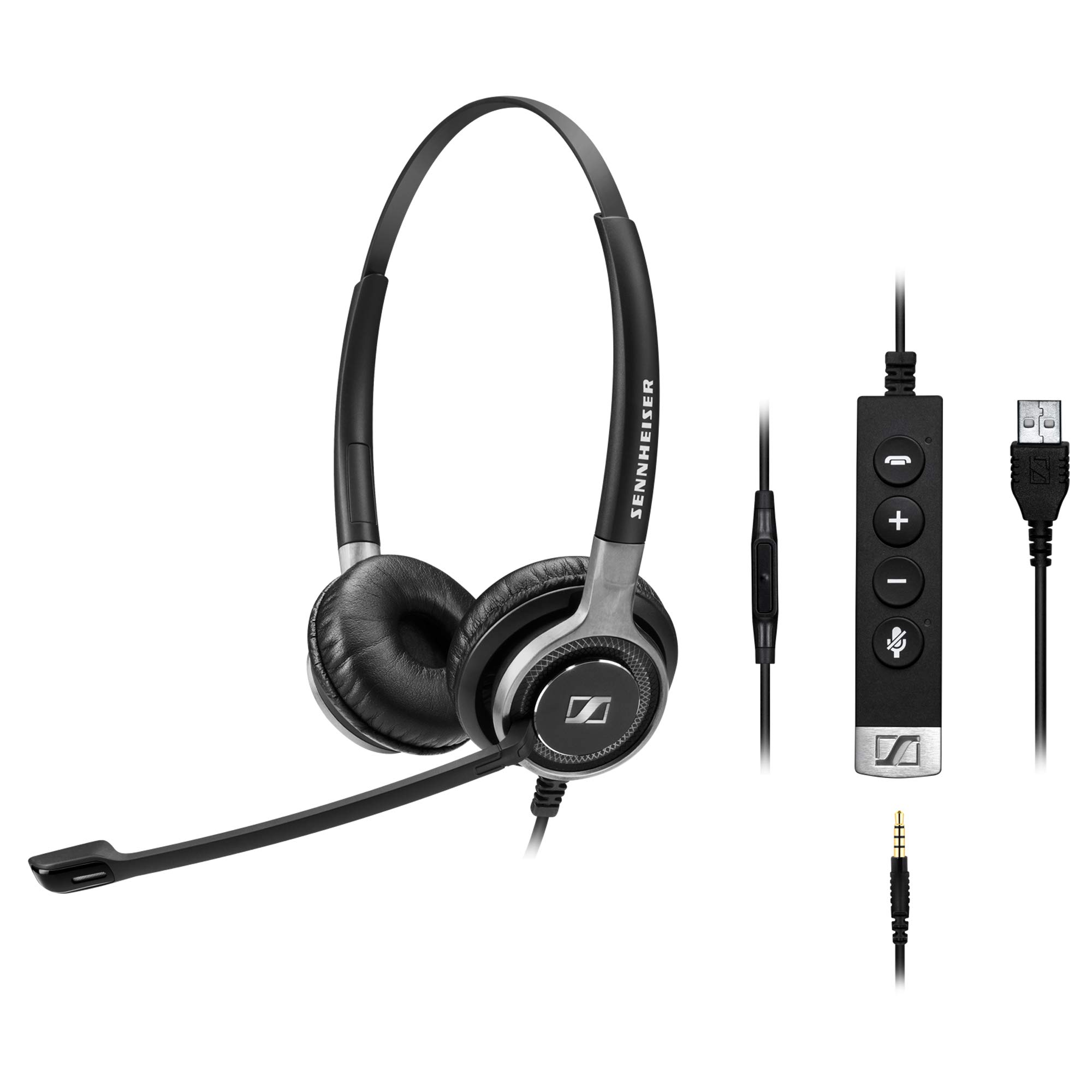 Sennheiser SC 665 USB (507257) - Double-Sided Business Headset | UC Optimized and Skype for Business Certified | For Mobile Phone, Tablet, Softphone, and PC (Black)