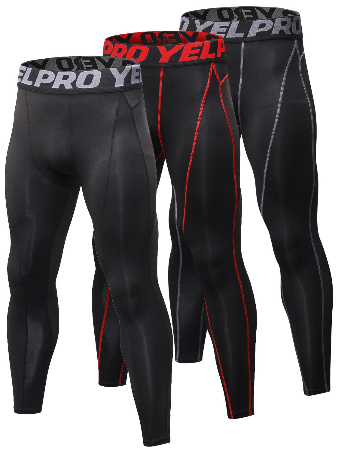 Yuerlian Men's Compression Pants Baselayer Cool Dry Sports Tights Leggings Running Tights