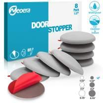 """Neoera Door Stopper Wall, 1.57"""" Round Soft Rubber Door Stop, Silicon Wall Protector, Premium Self Adhesive Door Bumper (Gray, 1.57"""" 8 Pack)"""