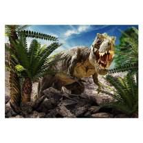Funnytree 7X5ft Dinosaur World Park Party Backdrop Children Tropical Jungle Safari Photography Background Boy Birthday Rainforest Animals Cake Table Decorations Banner Photobooth Photo Studio Props