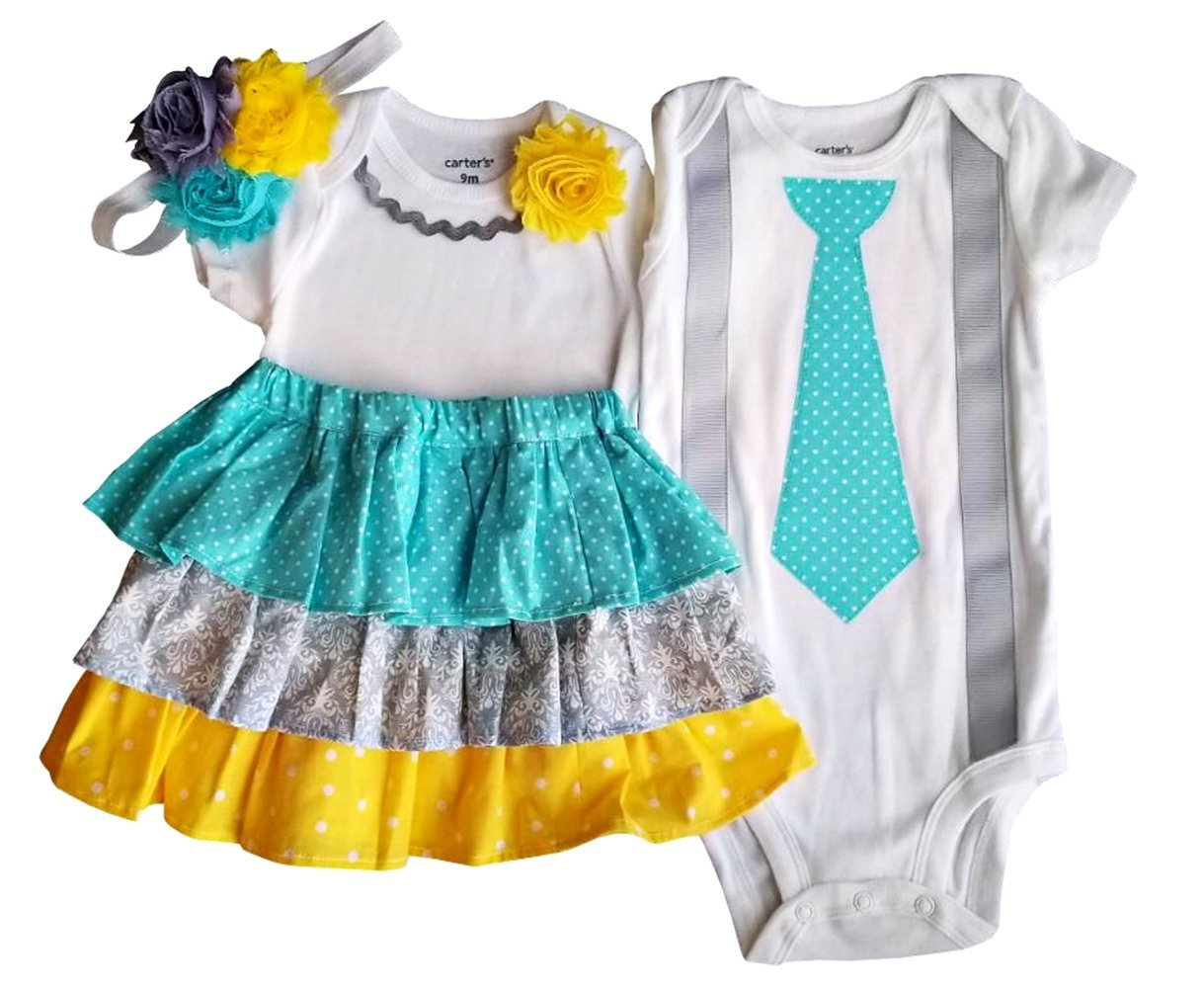 Perfect Pairz Boy Girl Twin Outfits Grace and Grayson USA Made Outfit