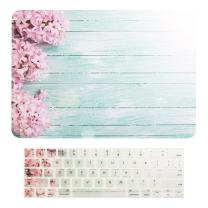 "TOP CASE MacBook Pro 15 inch Case 2019 2018 2017 2016 Release A1707 A1990, 2 in 1 Signature Floral Pattern Matte Hard Case+Keyboard Cover Compatible MacBook Pro 15"" Touch Bar - Pink Hyacinth"