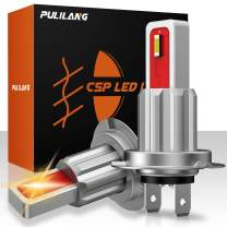 Pulilang H7 H7LL LED Fog Lights Bulbs, 40W 2100K Amber Yellow Extremely Bright CSP 1860 SMD LED Fog Daytime Running Lights DRL Bulbs 12-24V No-Polarity For Stock Halogen Replacement (Pack of 2)