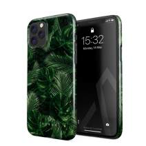 BURGA Phone Case Compatible with iPhone 11 PRO - Tropical Exotic Summer Green Palm Tree Leaf Nature Plant Leaves Cute Case for Women Thin Design Durable Hard Plastic Protective Case
