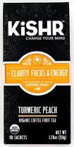 Organic Coffee Fruit Tea (Turmeric Peach) Herbal Tea for Clarity, Focus and Energy, 10 Bags - KISHR