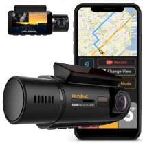 """Rexing V3 Dual Camera Front and Inside Cabin Infrared Night Vision Full HD 1080p WiFi Car Taxi Dash Cam with Built-in GPS, Supercapacitor, 2.7"""" LCD Screen, Parking Monitor, Mobile App"""