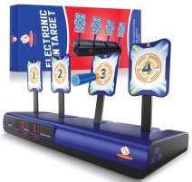 Bullseye Electronic Running Shooting Target – Auto Scoring Target - Digital Targets for Nerf Gun Toys - Ideal Gift Toy for Kids - Boys & Girls – Solo and Multi-Player Mode