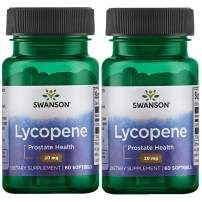 Swanson Lycopene Supplement, Prostate Health Supplement 20 mg, 60 Softgels (2 Pack)