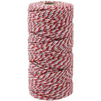 Just Artifacts ECO Bakers Twine 110-Yards 12Ply Cherry Grey Twist - Decorative Bakers Twine for DIY Crafts and Gift Wrapping