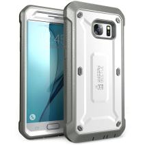 SUPCASE Unicorn Beetle Pro Series Case Designed for Galaxy S7, with Built-In Screen Protector Full-body Rugged Holster Case for Samsung Galaxy S7 (2016 Release) (White/Gray)