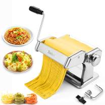 Pasta Machine,Tooluck Manual Pasta Maker Machine With 2 In 1 Dough Cutter And 7 Adjustable Thickness Setting For Homemade Pasta,Spaghetti, Fettuccini, Lasagna Or Dumpling Skins,Best Kitchen Gift Set.