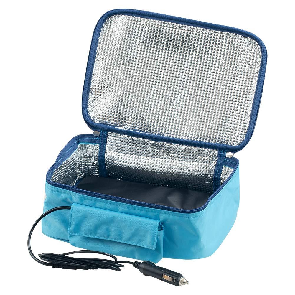 Janedream 12V Portable Car Food Warmer Mini Oven Microwave Self Heating Lunch Bag (Blue)