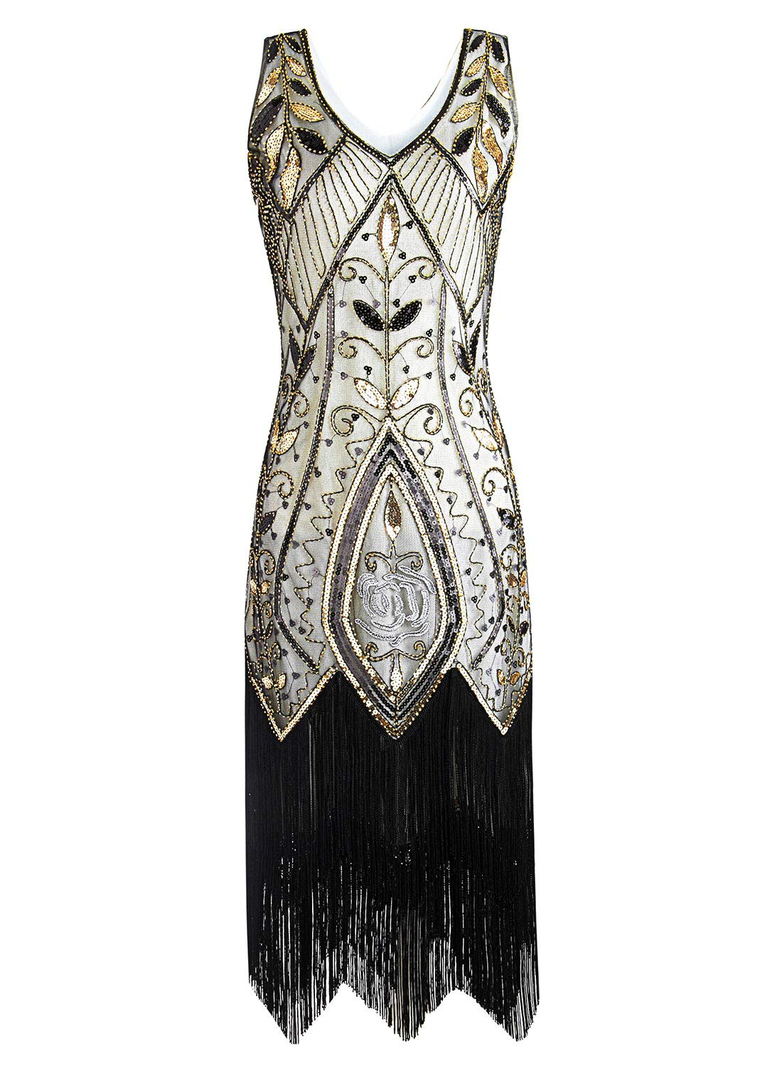 Women Flapper Dresses Plus Size Vintage 1920s Gatsby Inspired Dress Fringed for Prom Party