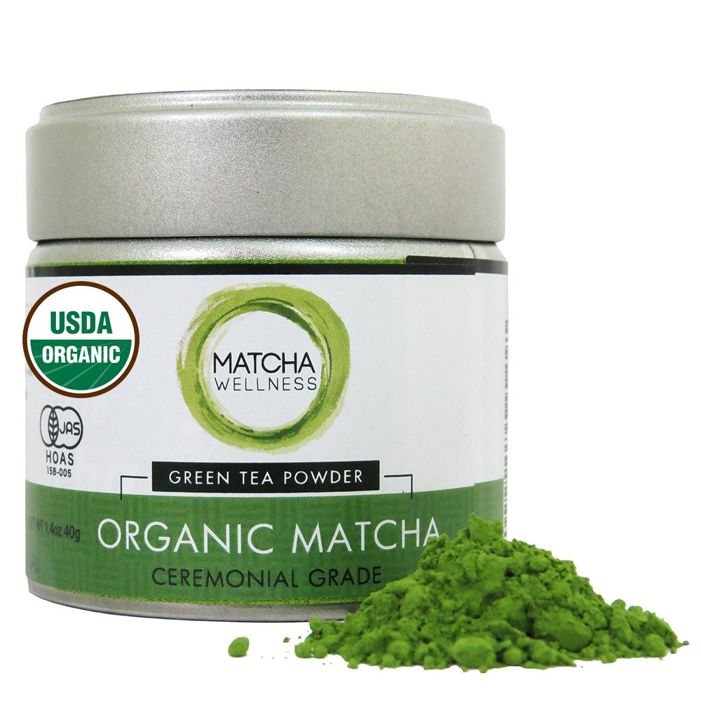 Matcha Green Tea Powder Ceremonial Grade 40g – USDA Organic | 1st Harvest Premium Matcha From Uji – Matcha Wellness