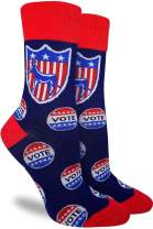 Good Luck Sock Women's Vote Democrat Socks - Blue, Adult Shoe Size 5-9