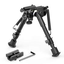 "XAegis Carbon Fiber 6""- 9"" Rifle Bipod with Picatinny Adapter, Carbon Bipod for Hunting&Shooting"