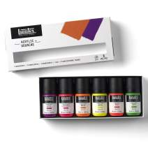 Liquitex Professional Acrylic Gouache Paint Set, Fluorescents 2-oz