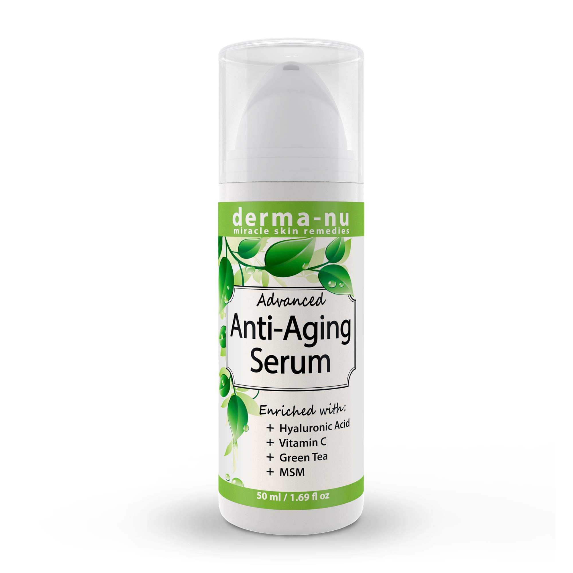 Advanced Anti-Aging Serum with Hyaluronic Acid - Natural Anti Wrinkle Vitamin C Serum for Face - Advanced Deep Tightening Facial Treatment to Reduce Fine Lines - Plumping and Firming