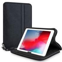 "Elegant Choise iPad 10.2 / iPad 7th Generation 10.2"" 2019 / iPad 9.7 / Galaxy Tab A 10.1 / iPad Mini 5 Tablet Sleeve Case, 7-11 inch Shockproof Water Repellent Kickstand Protective Bag (Black)"