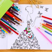 Coloring Pencils Set Water Soluble Color Lead 72-color Colored Pencil/Drawing Pencils Set for Sketch and Coloring Book by DELIFUR