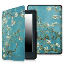"Fintie Case for All-New Kindle E-Reader (8th Generation 2016) - The Thinnest and Lightest Slim Shell Cover Auto Wake/Sleep for Amazon All-New Kindle (6"" Display, 8th Gen 2016 Release), Blossom"
