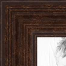 ArtToFrames 4x33 inch Walnut Stain on Hard Maple Wood Picture Frame, 2WOM0066-60823-YWAL-4x33