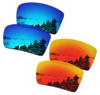 SmartVLT Men's Ice Blue&Fire Red Replacement Lenses for Oakley Eyepatch 2 OO9136 Sunglass