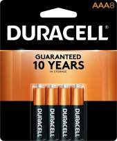 Duracell - CopperTop AAA Alkaline Batteries - long lasting, all-purpose Triple A battery for household and business - 8 Count