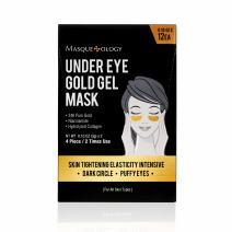 Masqueology Gold Under Eye Mask, 12 count