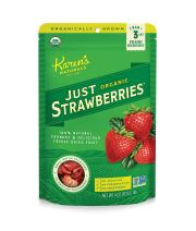 Karen's Naturals Organic Just Strawberries, 4 Ounce (Pack of 1)  Organic All Natural Freeze-Dried Fruits & Vegetables, No Additives or Preservatives, Non-GMO