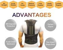 Back Brace Waist Support Belt - Helps Relieve Lower Back Pain, Round Shoulder, Sciatica, Scoliosis, Herniated Disc or Degenerative Disc Disease