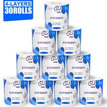StillCool 30 Rolls Toilet Paper 4 Layers Soft Strong Bath Tissue Home Kitchen Toilet Tissue for Daily Use, 4-ply Paper Towel, Individually Wrapped Standard Rolls