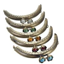 "KINGSO 5PCS Dia. 3"" Retro Metal Frame Purse Coin Bag Kiss Clasp Lock DIY Craft Assorted Lotus Bead"