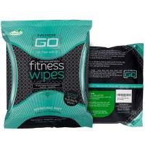 HyperGo Full Body Wipes - Cleansing Wipes for Body Odor and Sweat - Refresh and Moisturize Skin - All Natural Ingredients - 20 Count (Pack of 1) - Mint