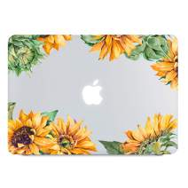 Lapac Sunflower MacBook Pro 13 inch Case 2019 2018 2017 2016 Release A2159 A1989 A1706 A1708, Hard Shell Clear Case with Keyboard Cover