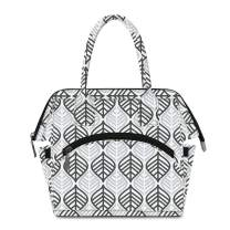 Lunch Bag for Womens Insulated Cooler Lunchbox Tote Bags for Picnic/Work/Office/School Leaf Grey