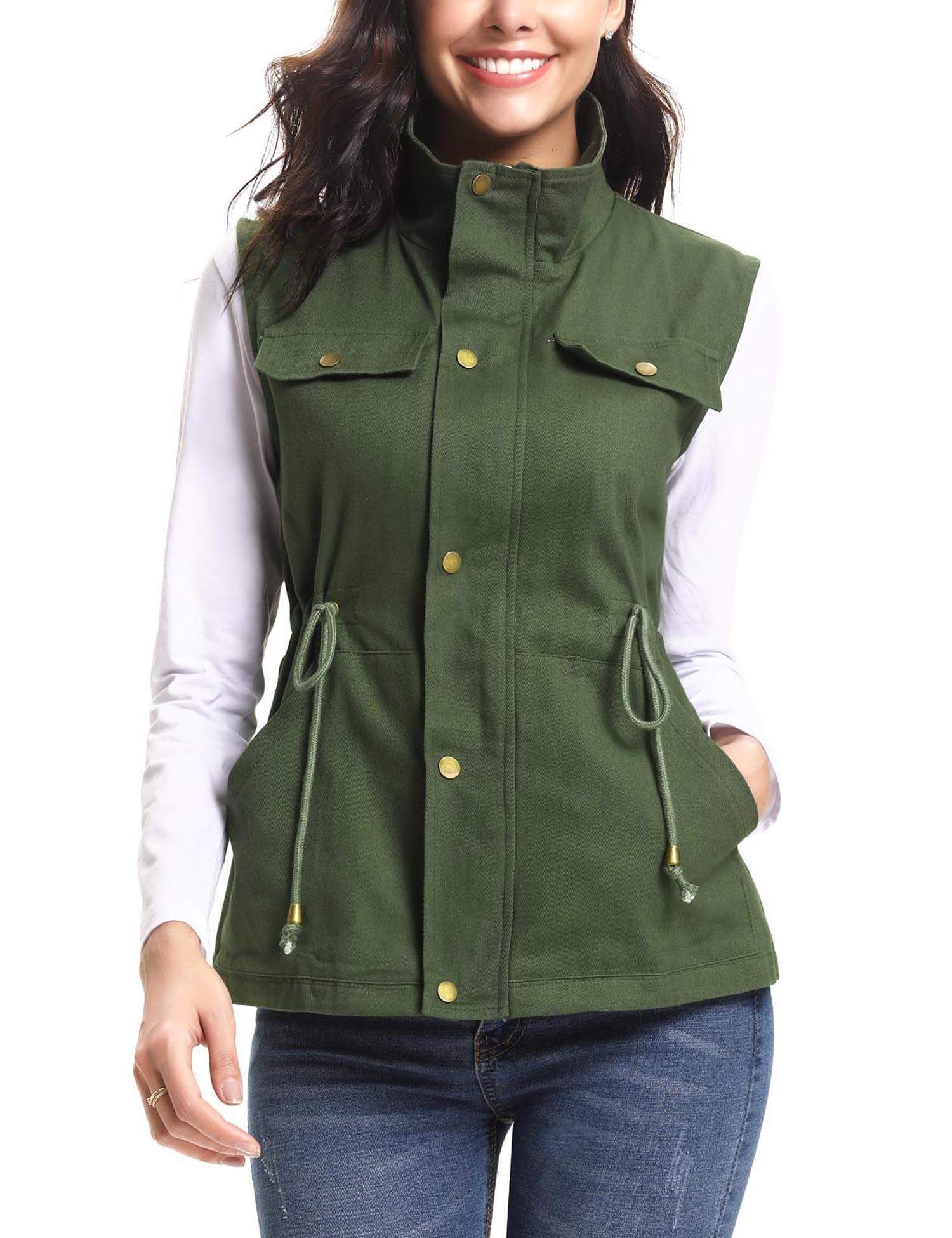 iClosam Women's Outerwear Vests Lightweight Anorak Military Utility Vest Jacket