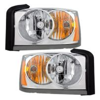 Driver and Passenger Headlights Headlamps Replacement for Dodge Pickup Truck 55077607AC 55077606AC