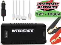 Interstate Batteries Charge and Go 12V Lithium Portable Jump Starter and Battery Charger - 1000A - 8.0L (PWR7020)