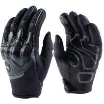ILM ATV BMX MX MTB Cycling Riding Dirt Bike Full Finger Gloves Touchscreen Fit For Men Women (Black, M)