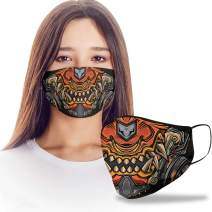 VTH Global Funny 3D Samurai Mouth Cartoon Reusable Washable Face Mask Women Men for Dust Protection