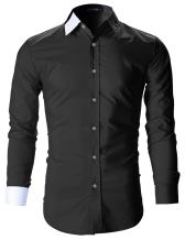 FLATSEVEN Mens Designer Slim Fit Dress Shirts