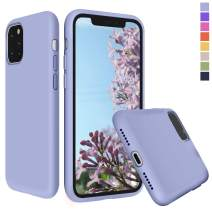 Inbeage Liquid Silicone iPhone 11 Silicone Case Silky Touch with Microfiber Cloth Lining Cushion Full-Body Protection Cover Slim Case for iPhone 11 6.1 inch (Lilac Purple)