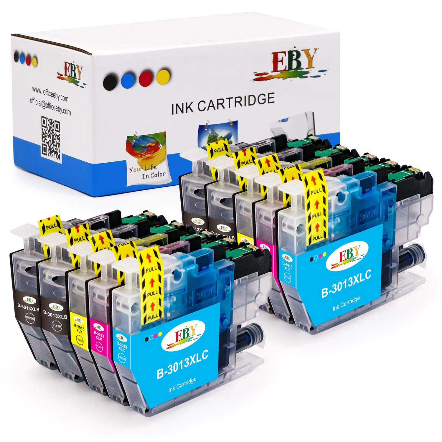 EBY Compatible Ink Cartridge Replacement for Brother LC3013 LC-3013 LC3011 Use with Brother MFC-J491DW MFC-J497DW MFC-J690DW MFC-J895DW (4 Black,2 Cyan, 2 Magenta, 2 Yellow, 10 Pack)