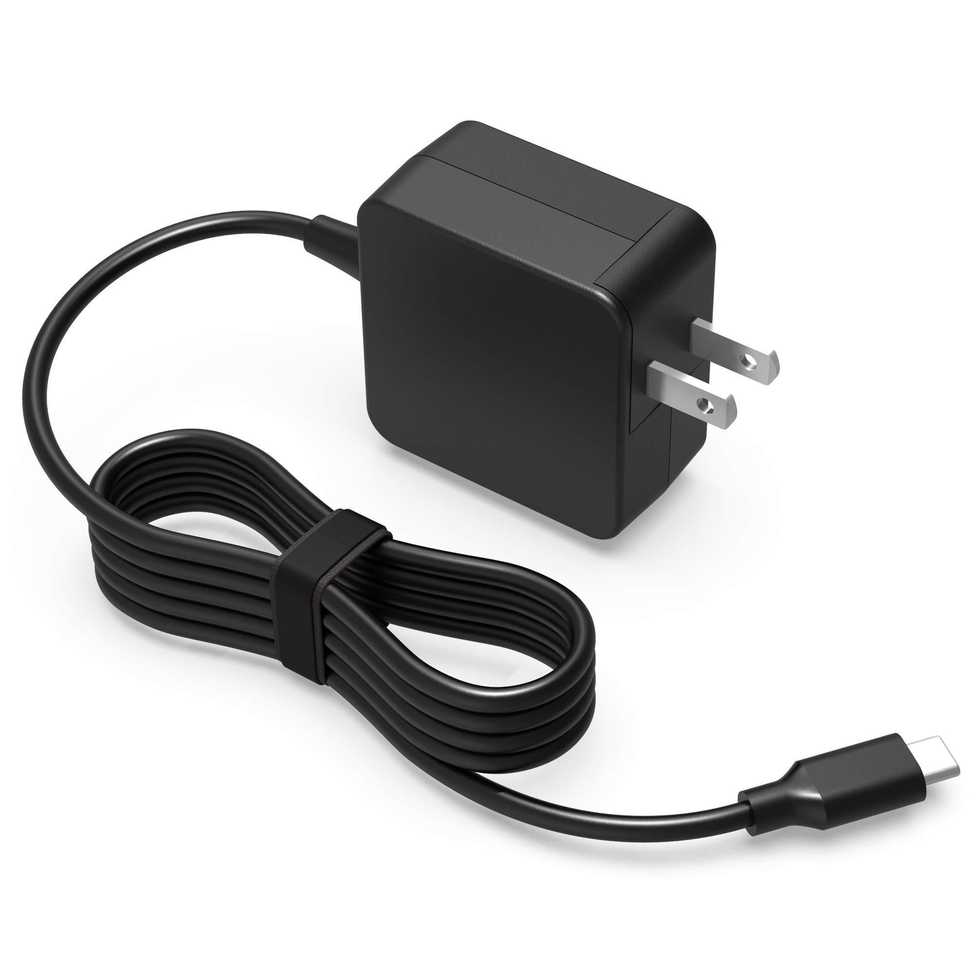 45W USB-C AC Charger for Lenovo Chromebook N23 Yoga, ThinkPad X1 Yoga 2nd 3rd Gen, X1 Carbon 5th 6th Generation 4x20e75131 4X20M26252 4GX20N20876 Type-C Laptop USB Type C Power Supply Adapter Cord