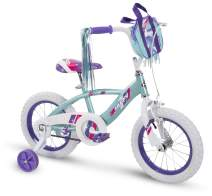 Huffy Kid Bike 12 inch Glimmer Quick Connect Assembly, Blue w/ Streamers & Bag