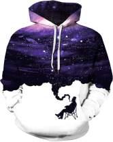 sanatty Unisex Teen Mens Womens 3D Print Hoodies Galaxy Pattern Hoodies Pullover Hooded Sweatshirt with Pockets