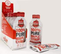 Maple Shot - 100% REAL Maple Syrup | Travel Size | Hiking | Cycling | Camping | Athletic Fuel | PURE Maple Energy Gel for Runners | 10-pack