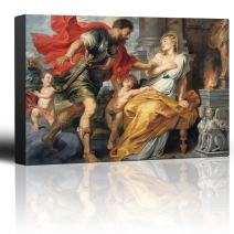 wall26 - Oil Painting of Mars and Rhea Silvia by Peter Paul Rubens - Baroque Style - Angels, Catholic, Christianity - Canvas Art Home Decor - 24x36 inches